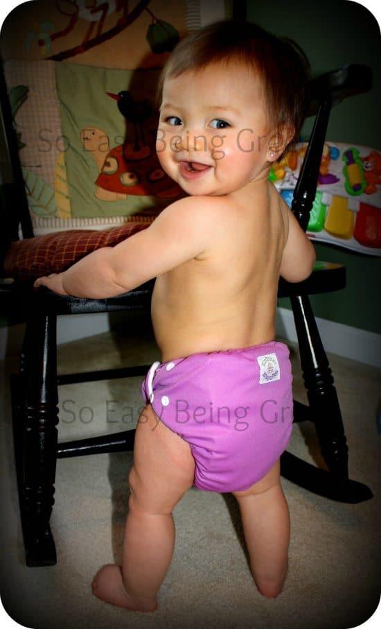 baby wearing knickernappies diaper