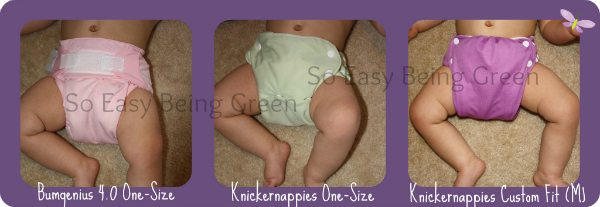 cloth diaper size and rise comparison on baby