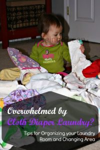 It's here! Organization Makes Cloth Diaper Laundry Easy