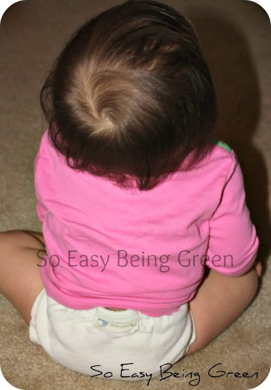 baby wearing Fitted Cloth Diaper from Babee Greens