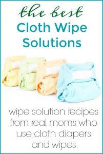 DIY Cloth Wipes Solutions