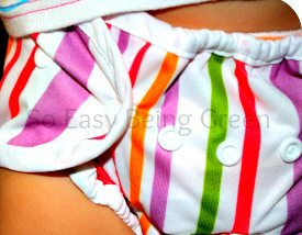 Thirsties Duo Wrap Diaper Cover in stripes print