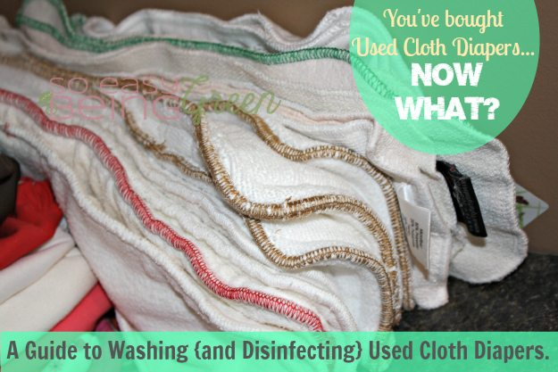 Washing Used Cloth Diapers