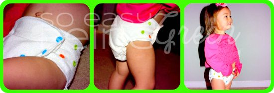 Child wearing babykicks organic fitted cloth diaper
