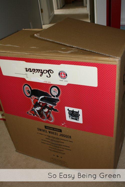 schwinn double jogger cardboard box