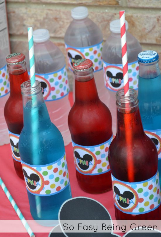 Mickey Mouse Birthday Party Drinks