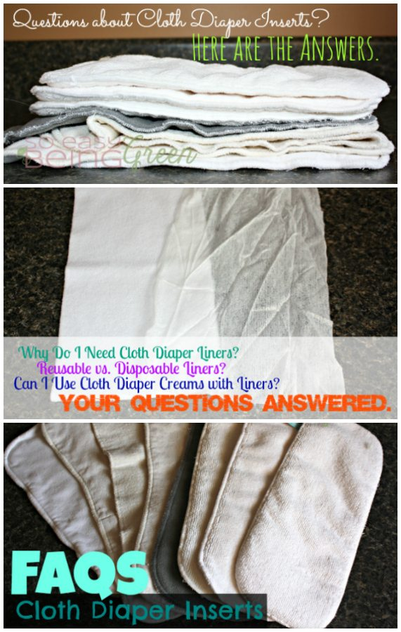 Answers to Questions about Cloth Diaper Inserts
