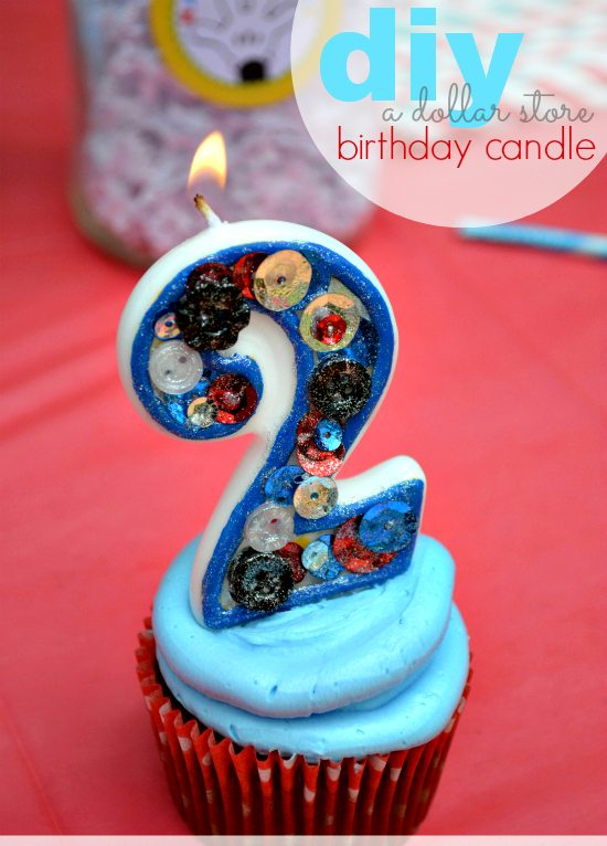 DIY Birthday Candle To Match Any Party Theme