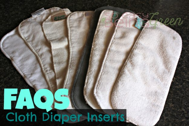 The details on different types of cloth diaper inserts used in cloth diapering