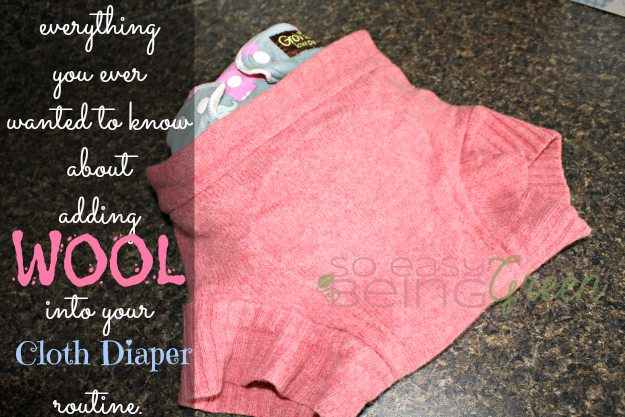 cloth diapering with wool