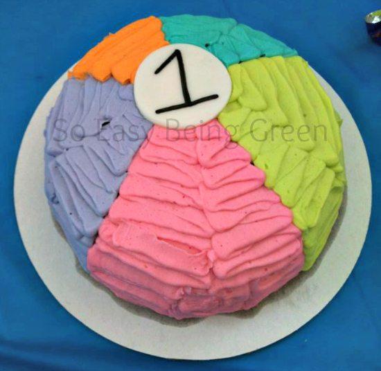 Beach Ball Smash Cake
