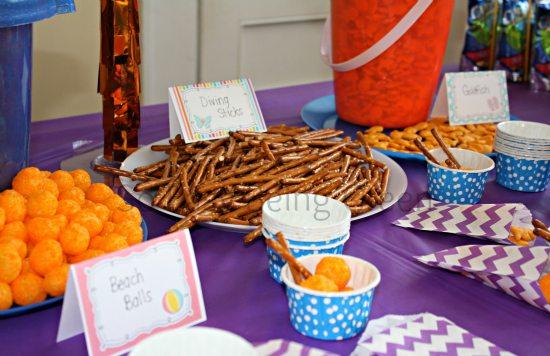 Beach Birthday Party Snack Ideas