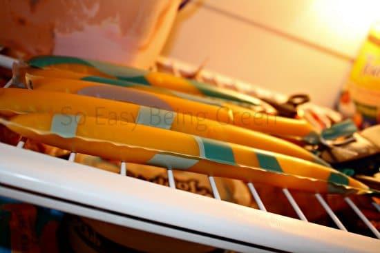 Fruit Pops in Freezer