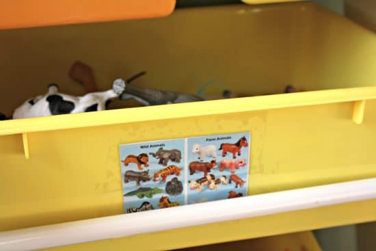 Toy Bins Organized