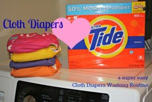 Washing Cloth Diapers with Tide.  My Cloth Diaper Wash Routine.
