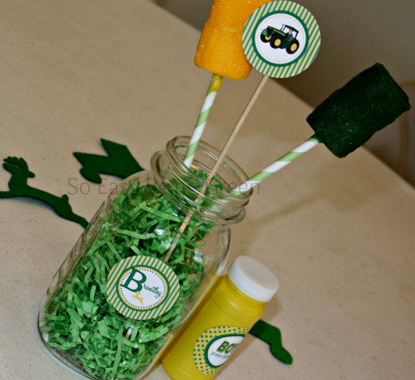john deere baby shower centerpiece ideas