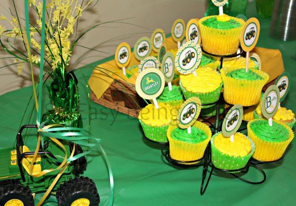 John Deere Cupcakes for a John Deere Baby Shower