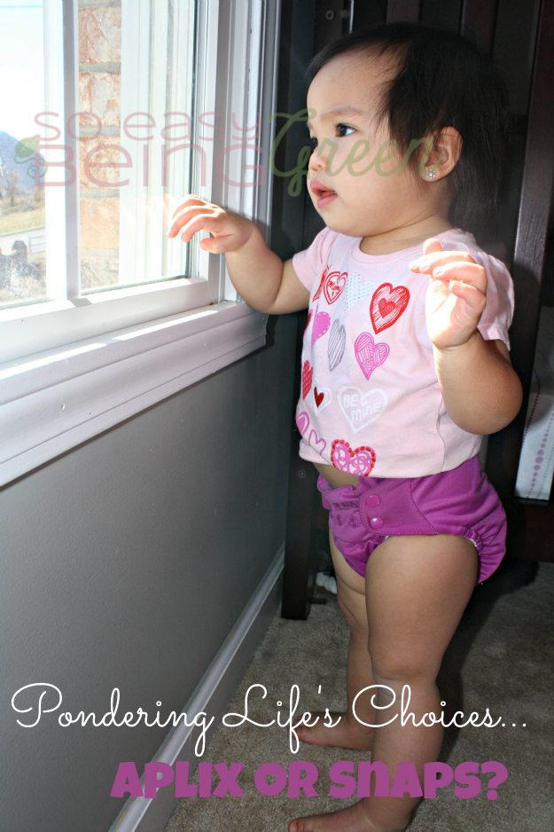 toddler wearing cloth diaper with snaps