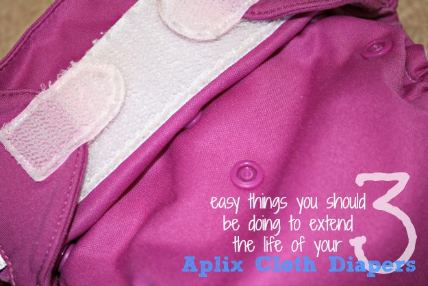3 tips for extending the life of your cloth diapers with velcro
