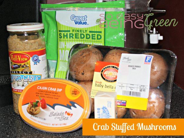 Stuffed Mushroom Ingredients