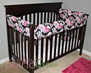 Handmade Crib Bedding - Rail Cover
