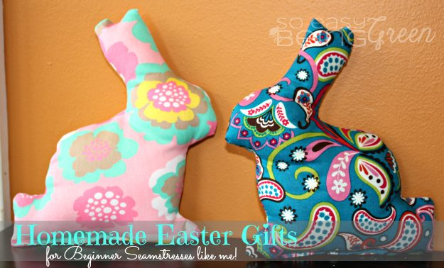 Homemade easter gifts when i first saw these adorable easter bunny softies on pinterest i immediately repinned them with an idea i had already purchased some fabric with a plan negle Gallery