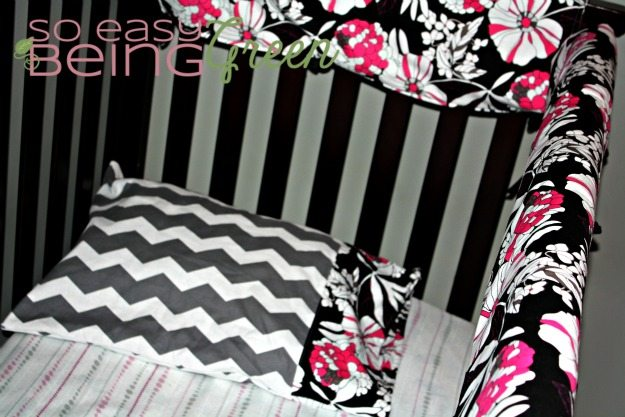 handmade crib bedding pillow