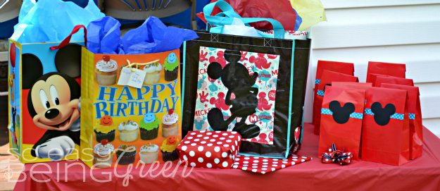 Mickey Mouse Party Favor Bags and Mickey Mouse party gifts