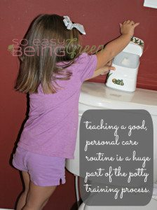 Last stages of Potty Training: Teaching Toddlers a Personal Care Routine