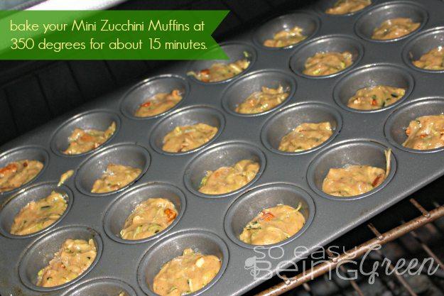 zucchini muffins baking time in mini muffin pan