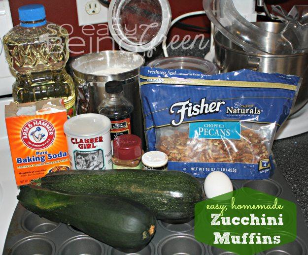 Zucchini Muffin ingredients