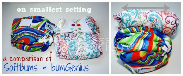 Cloth Diaper Comparison Softbums and BumGenius