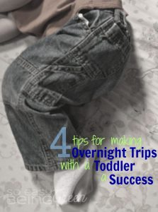 4 Tips for Making Overnight Trips with a Toddler a Success