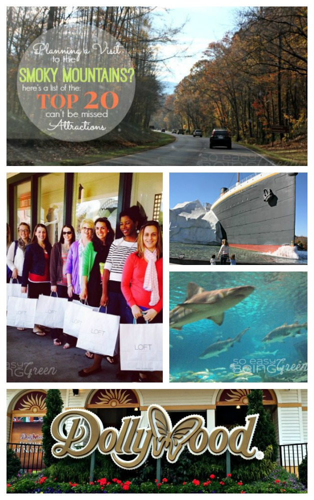 A list of the top 20 Smoky Mountains Attractions that you definitely do NOT want to miss on your next visit.