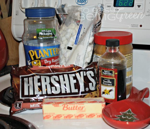 Rocky Road Fudge Ingredients