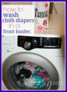 Fluffy Friday: How to Wash Cloth Diapers in a Front Loader {and a Molly's Suds Detergent Review}