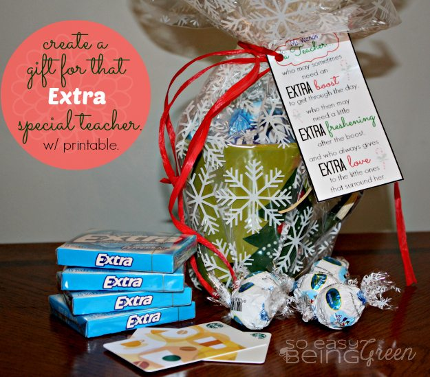 Diy Christmas Presents For Teachers : Diy teacher gifts for christmas featuring extra gum