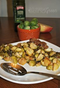 Roasted Garlic Brussels Sprouts with STAR Olive Oil Enhanced Flavors