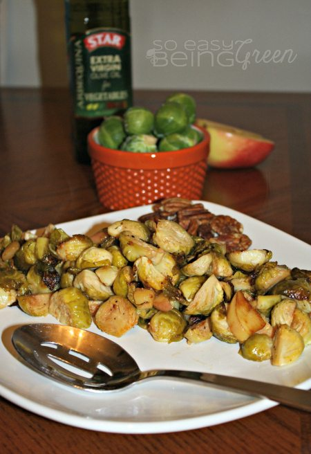 Roasted Garlic Brussels Sprouts #shop
