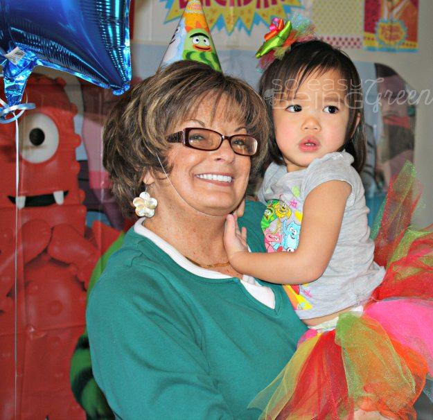Birthday Girl and Grandmother