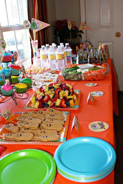 Yo Gabba Gabba Food Table