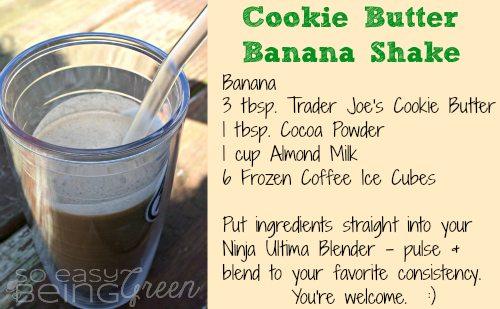 Cookie Butter Banana Shake Recipe