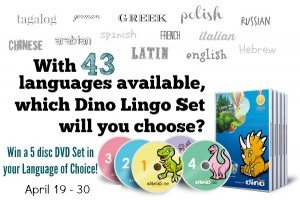 Dino Lingo April Giveaway