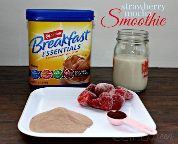 Breakfast Essentials Strawberry Mocha Smoothie