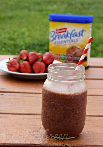 Strawberry Smoothie Breakfast Essentials