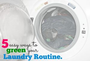 Green Your Laundry Routine