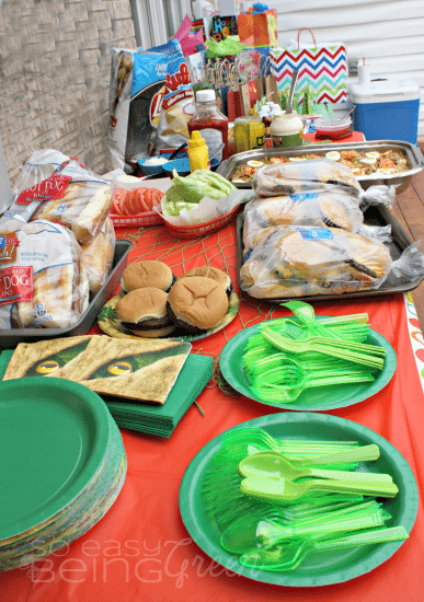 Dino Party Food Table