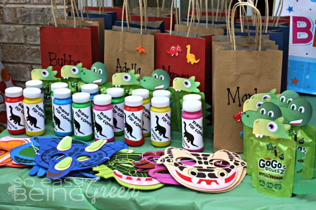 Dinosaur Party Favors Bags