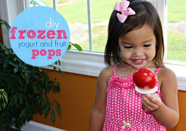 Frozen Yogurt and Fruit Pops