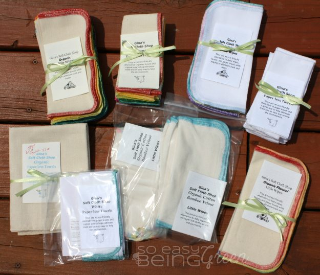 Cloth Wipes And Paper Less Towels From Gina S Soft Cloth Shop
